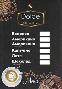 dolce aroma menu